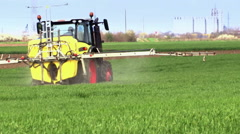 Plant protection spraying herbicides Stock Footage