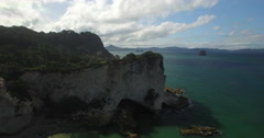Supercut of shots of Cathedral Cove Stock Footage