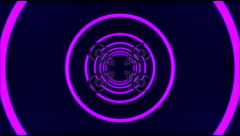VJ Loop tunnel neon metal beats glass pipes 128 bpm animated 720p Stock Footage