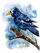 Crow Sketch Stock Illustration