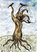 Dead Tree Sketch - stock illustration