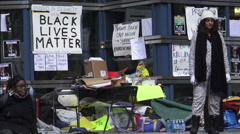Black Lives Matter Tent City Toronto, Canada Stock Footage