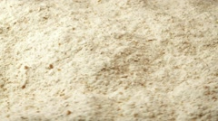 White Flour Rotating Closeup - stock footage