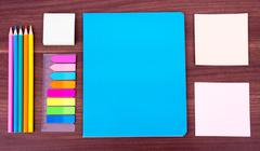 Stock Photo of Notebooks with stationary