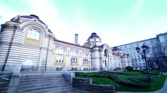Beautiful architectural building in Sofia, Bulgaria-timelapse Stock Footage