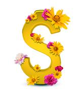 Golden dollar sign Stock Illustration