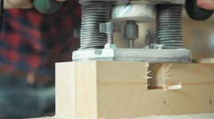 Milling woodworking machine - stock footage