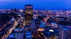 Aerial view of the Boston from Prudential Center, Boston, USA Stock Footage