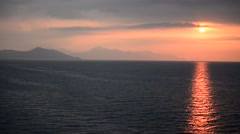 Beautiful sunset as seen from Cruise Ship Stock Footage