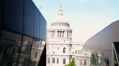 St Paul Cathedral from external elevator Stock Footage
