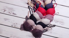 Different bras selection. - stock footage