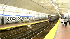 Boston subway station Stock Footage