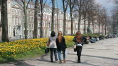 Spring in The Hague, Holland Stock Footage