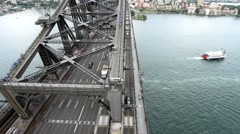 Sydney Bridge traffic Stock Footage