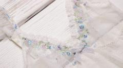 Transparent white nightie. Stock Footage