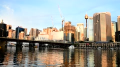Darling Harbour on a sunny day Stock Footage