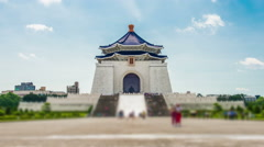 The Chiang Kai-shek Memorial Hall Stock Footage