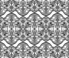 Seamless black lace Stock Illustration
