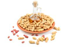 Peanuts and peanut butter - stock photo