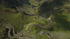 Aerial view over a small part of Transfagarasan road Stock Footage