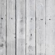 White painted pine planks on fence in square format Stock Photos