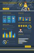 Soccer Infographic - stock illustration