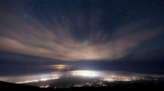 Rising reveal Maui Stars Space Astrophotography Time Lapse Stock Footage
