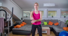 Stretching up the upper body  - stock footage