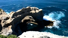 The Arch at Great Ocean Road Stock Footage