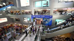 Interior MBK shopping center in Bangkok downtown Stock Footage
