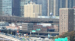 FDR Drive traffic in Manhattan - stock footage