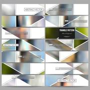 Modern vector banners. Abstract multicolored background of blurred nature Stock Illustration