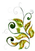 Leaves Ornament - stock illustration