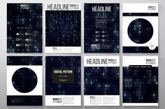 Set of business templates for brochure, flyer or booklet. Virtual reality Piirros