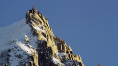 Aiguille Du Midi Chamonix, France 5K HD Stock Video Footage Stock Footage