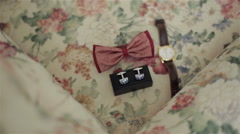 Clothing and accessories groom - stock footage