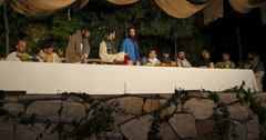 Last Supper - stock footage