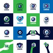 vector logo for photographer - stock illustration