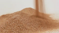 Waste flour . Husk . Bran - stock footage