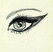 Sketch of an Eye - stock illustration