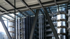 Lloyds building exterior moving camera. Stock Footage