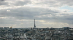 Timelapse of clouds gathering over the Paris Stock Footage