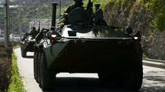 Armored Personnel Carriers Moving. Stock Footage