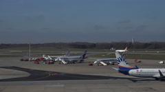 4k Germanwings aeroplane take-off from runway Airport Hamburg Stock Footage