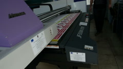 Wide Format Printer Plotter printing street signs Stock Footage