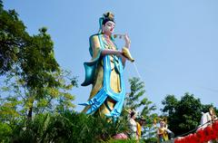 Guanyin bodhisattva statue - stock photo