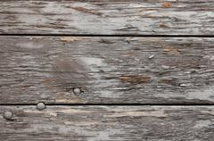 A background of weathered gray wood - stock photo