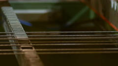 Automated process of Wire Mesh Producing Machine Stock Footage