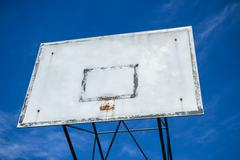 Basketball hoop broken - stock photo