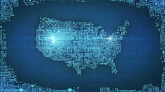 USA Circuitry Background Stock Footage